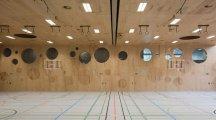 Sala gimnastyczna. Eichi Centre - Szwajcaria. L3P Architects.