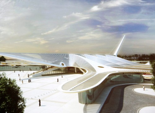 Le-second-projet-de-la-gare-de-Mons-par-l-architecte-Calatrava-