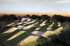 Szkoła wAsminderod według Bjarke Ingels Group.